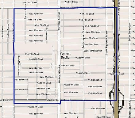 Vermont_Knolls_Inglewood_Los_Angeles_CA_Map