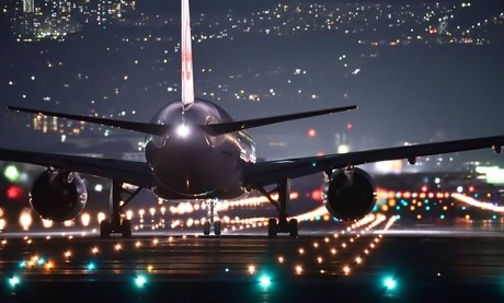 plane in night