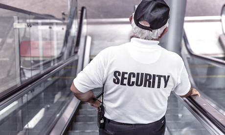 Security guard in the airport